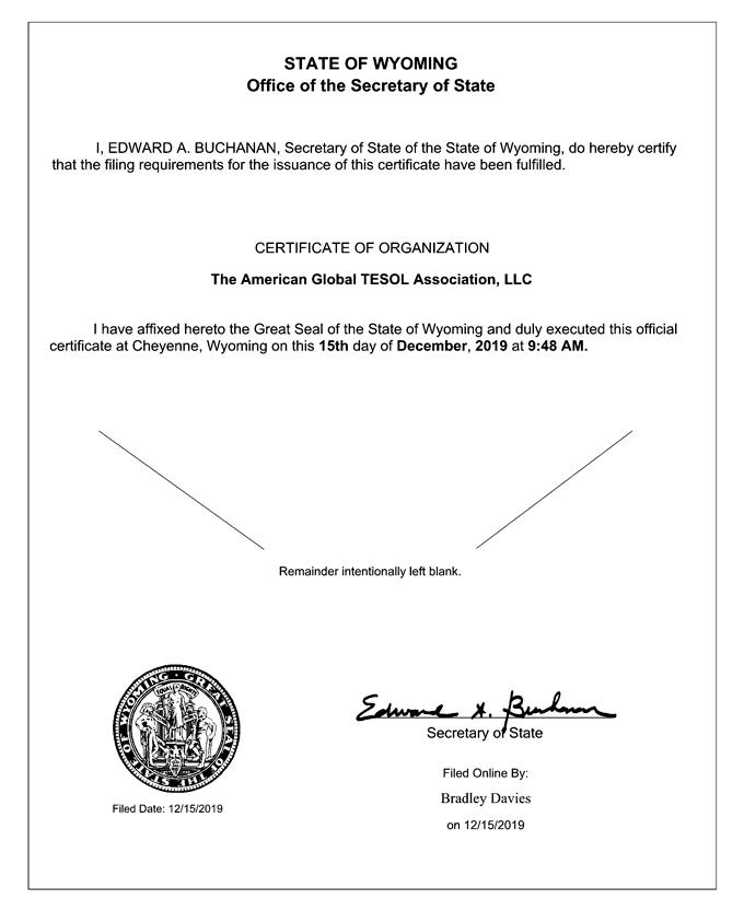 The American Global TESOL Association